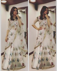 Such a stunner: Hansika Motwani in our printed lehenga set from 'The Vintage Garden' collection! Ethnic Outfits, Indian Outfits, Fashion Outfits, Fasion, Women's Fashion, Ethnic Fashion, Indian Fashion, Beautiful Dresses, Nice Dresses