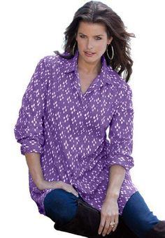 Roamans Plus Size Kate Bigshirt by Roamans