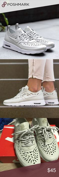 Air max Thea Jolie Qs in bone Cute sneakers perfect for the summer - great condition Nike Shoes Sneakers