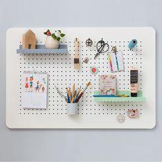 Kids Homework Room, Large Pegboard, Girl Room, Floating Shelves, Gallery Wall, Frame, Home Decor, Clinic, Walls