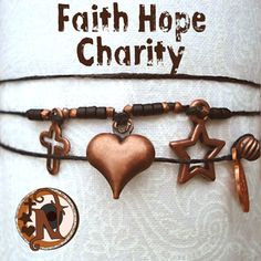 "The classic symbols for Faith, Hope and Charity with an NTIO take on ""Hope"".  We used a star instead of an anchor....better right"