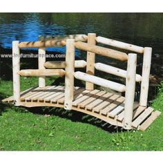 Contoured Comfort Cedar Log Bridge