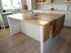 WOOD ANCHOR | Rempel's Elm Waterfall Countertop