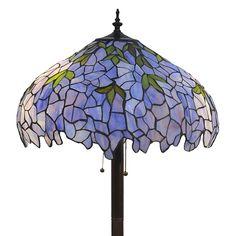 Indigo 2-Light Tiffany-style 19-inch Floor Lamp