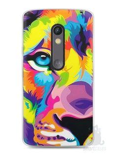 Capa Capinha Moto X Play Leão Colorido #1 - SmartCases - Acessórios para celulares e tablets :)