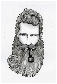 Illustrated beard