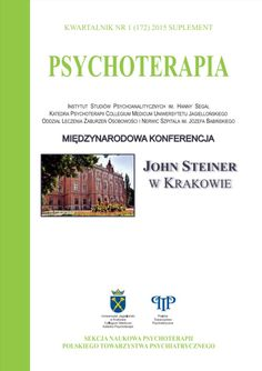 """Fortuna, Tomasz (2015) Dyskusja artykułu Johna Steinera """"Opór i odrzucenie kobiecości"""" [Discussion of John Steiner's paper """"The repudiation of femininity and the reluctance to relinquish omnipotence""""]. Psychoterapia Femininity, Clinic, Public, Paper, Books, Libros, Book, Book Illustrations, Libri"""