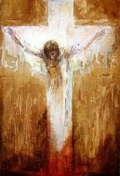 No greater love. ~ Till on that cross when Jesus died, the wrath of God was satisfied, for every sin on Him was laid; Here in the death of Christ I live! Catholic Art, Religious Art, Croix Christ, Jesus Art, Cross Art, Les Religions, Prophetic Art, Biblical Art, Jesus Pictures