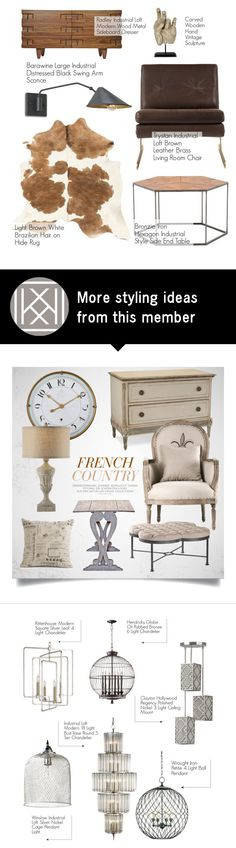 """Industrial Decor"" by kathykuohome on Polyvore featuring interior, interiors, interior design, home, home decor, interior decorating, Radley, Home, homedecor and homeset"