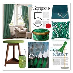 """""""green # Homelava"""" by homelava ❤ liked on Polyvore featuring interior, interiors, interior design, home, home decor, interior decorating, Chloé, Thos. Baker and L'Objet"""
