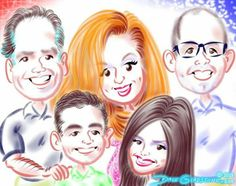 See the caricatures from photos I drew for Charlie's birthday https://facebook.com/caricature.artist.nyc