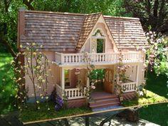 mod doll houses   Doll House The Bluebird of Happiness by LovelyDayForAPicnic