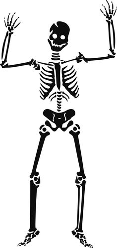 117 happy skeleton free halloween vector clipart illustration - Halloween Skeleton