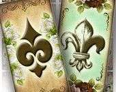 Digital collage Fleur de lis domino pendant by graphicland Jewelry Crafts, Jewelry Art, Domino Jewelry, Paper Supplies, Jewelry Supplies, Domino Art, Flower Images, Collage Sheet, Cards
