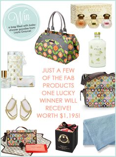 {Molly Sims Baby Shower Goody Bag Giveaway}