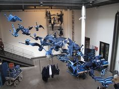 """Heartwear was at Merci's shop in Paris for a beautiful installation called """"UNIVERSAL BLUE"""""""