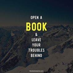 Open a book & leave your troubles behind.  #book #books #bookworm #read #amazing #bestoftheday #author #booksawesome #reading #kindlefire #kindle #nook #imagine #love #photooftheday #paper #page #ebooks #ebook #smile #instagood #instaread #bookaholic #bookaddict #booknerd  Follow us on Instagram!