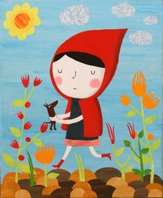 """Me llamo Leticia, me gusta """"Caperucita Roja"""" porque enseña que nunca debes ir sólo y porque me enseña que hay que visitar de vez en cuando a tu abuela"""