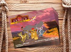 The Lion Guard Invitation Digital Customizable Birthday Disney by BolleBluParty on Etsy
