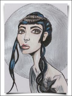 fox_from_mars_illustration_girl_with_blue_hair_papier_hochformat_rahmen