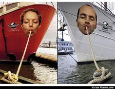 Pub spaghetti corde de bateau - Creative Outside Ad Boat