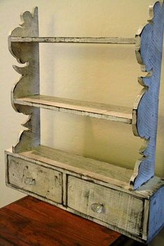 French country wall shelf cottage chic wall by LynxCreekDesigns, $99.99