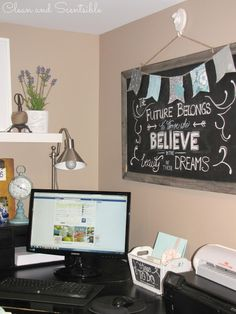 Clean & Scentsible: Home Office Organization