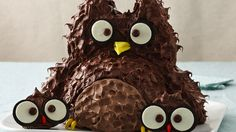 Kids will get a hoot out of these sweet treats, made with cake mix, frosting and candy.