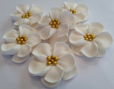 lot of 50 Royal Icing Flowers for Cake Decorating by mochasof, $17.00