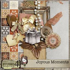 Hello! Darlene, Studio4 Designworks, here for the January Less is More challenge. This month for the LESS IS MORE CHALLENGE, I present. JOYOUS MOMENTS I hope you had a most wonderful holiday season...