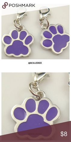 (1) Doggy Footprint Size: about 25*20 mm  ,Length of Lobster clasp :15mm   1 paw print only   Material: alloy Accessories Key & Card Holders