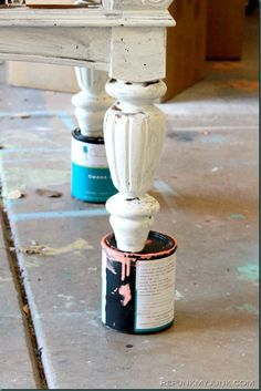 Painting Furniture Tips & Tricks {Prop It Up!} - Refunk My Junk