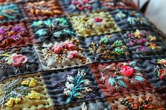 Creative Embroidery, Learn Embroidery, Silk Ribbon Embroidery, Hand Embroidery Patterns, Embroidery Applique, Embroidery Thread, Quilt Stitching, Wool Applique, Needlework