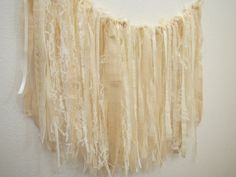 Burlap and Lace Garland Shabby and Chic Rustic by LolaRoseDesigns