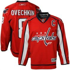 Reebok Alexander Ovechkin Washington Capitals Red Home Captain Premier  Jersey b455816e4