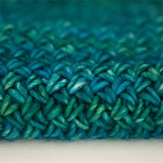 This was a test knit/scarf of the Plaited Basket stitch.