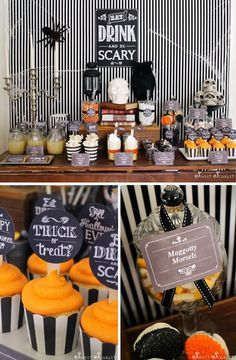 Eat, Drink, & Be Scary Halloween Party with Lots of Really Cute Ideas via Kara's Party Ideas KarasPartyIdeas.com #HalloweenParty #HalloweenPartyIdeas