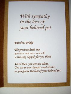 handmade pet sympathy card  pet loss card paw by JDooreCreations