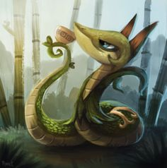 DAY 151. Serperior (30 Minutes) by Cryptid-Creations.deviantart.com on @deviantART