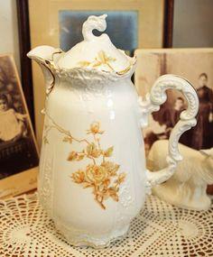 Vintage  Chocolate Pot Teapot Coffee Pot German Porcelain