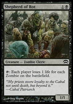 Shepherd of Rot (Planechase) - Gatherer - Magic: The Gathering Zombie Army, New Zombie, Black Zombie, Magic Playing Cards, Magic Cards, Mtg Decks, Black Deck, Mtg Altered Art, D&d Dungeons And Dragons