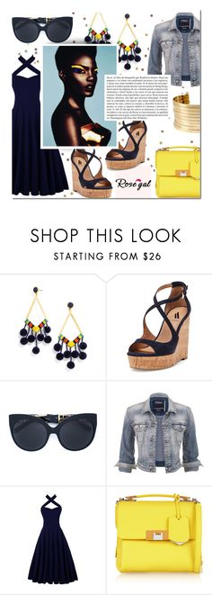 """ROSEGAL Contest"" by mfardilha ❤ liked on Polyvore featuring BaubleBar, Ava & Aiden, Linda Farrow, maurices, Balenciaga, Whiteley and Kenneth Cole"