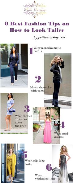 6 Best Fashion Advice on How to Look Taller if You are Petite Fashion tips on how to look taller. Petite Fashion Tips, Petite Outfits, Petite Dresses, Fashion Tips For Women, Fashion Advice, Trendy Fashion, Women's Fashion, Fashion Ideas, Fashion Spring