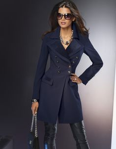 military inspired coat & leather