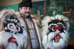 "Traditional ""Mosi"" masks craftsman Vasile Susca. Yes, those are real animal horns.Photo by Adrian Petrisor, via Flickr"