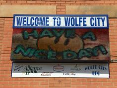 Full Color LED Sign, Wolf City