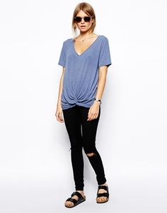 Image 4 ofASOS Top with Slouchy Twist Front