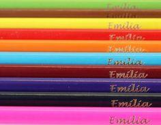 Stifte - Buntstifte mit Gravur - ein Designerstück von Graviererei bei DaWanda