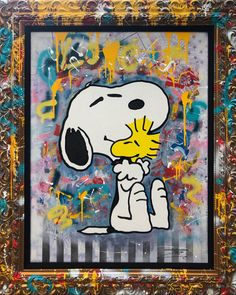 Snoopy Day 2019 Original Painting by Jozza - Acrylic on Canvas Snoopy Love, Snoopy And Woodstock, Peter Max Art, Charles Shultz, Peanuts Snoopy, Peanuts Comics, Faux Brick, Charlie Brown And Snoopy, Ad Art