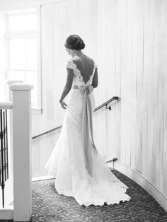 #MadeleinesDaughterMoment, real bride, real wedding, bridal gown, wedding gown, lace wedding gown, Allure, Allure 9000, v-back, sash, ivory, mountain wedding, elegant wedding